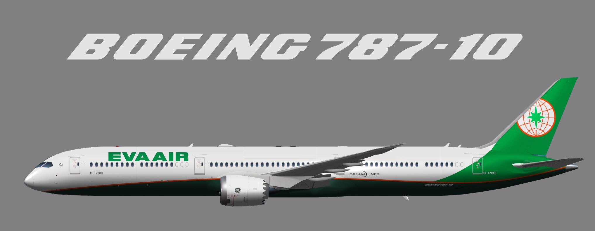 Eva Airways Beoing 787-10