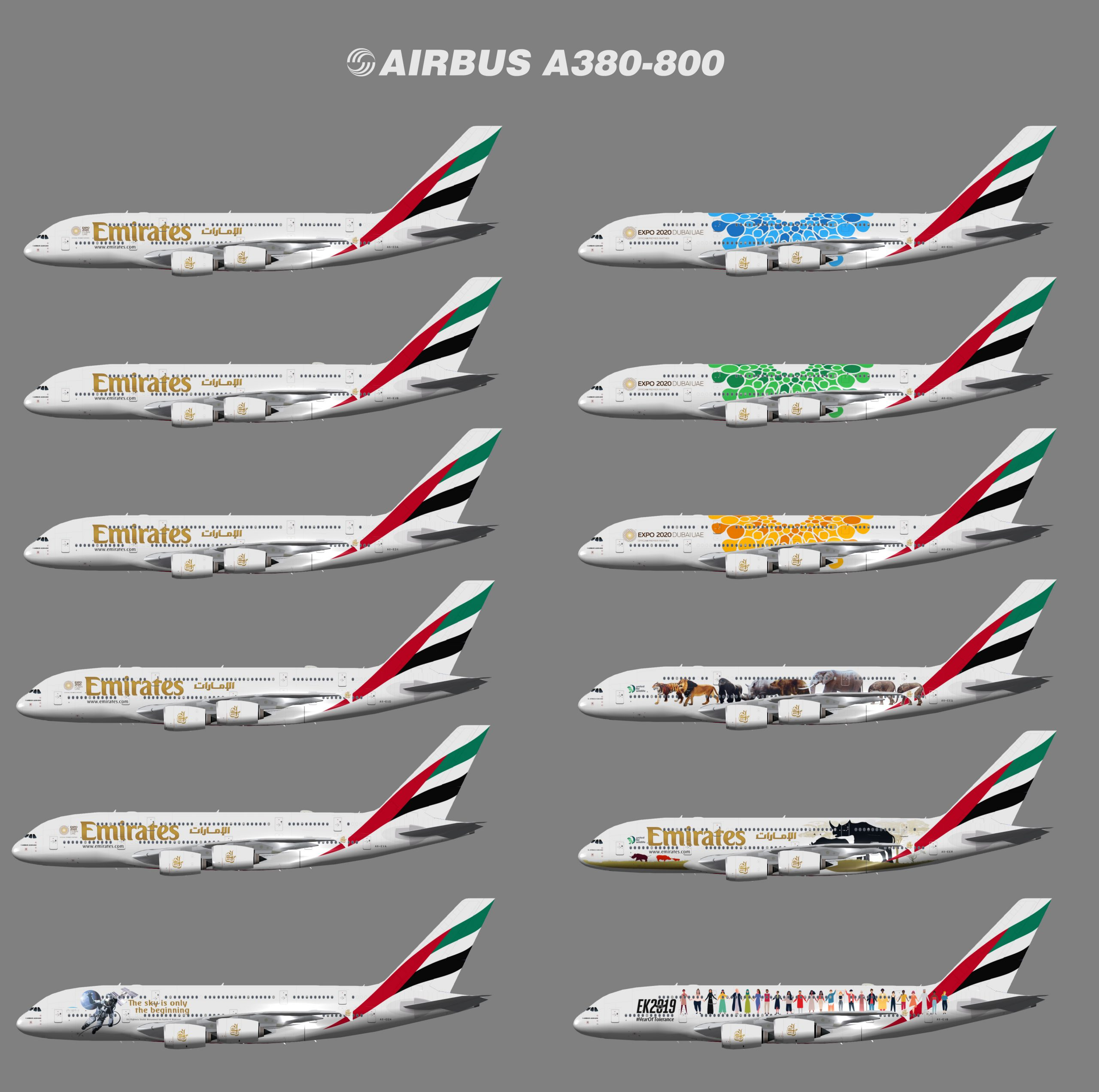 Emirates Airbus A380-800 (TFS)