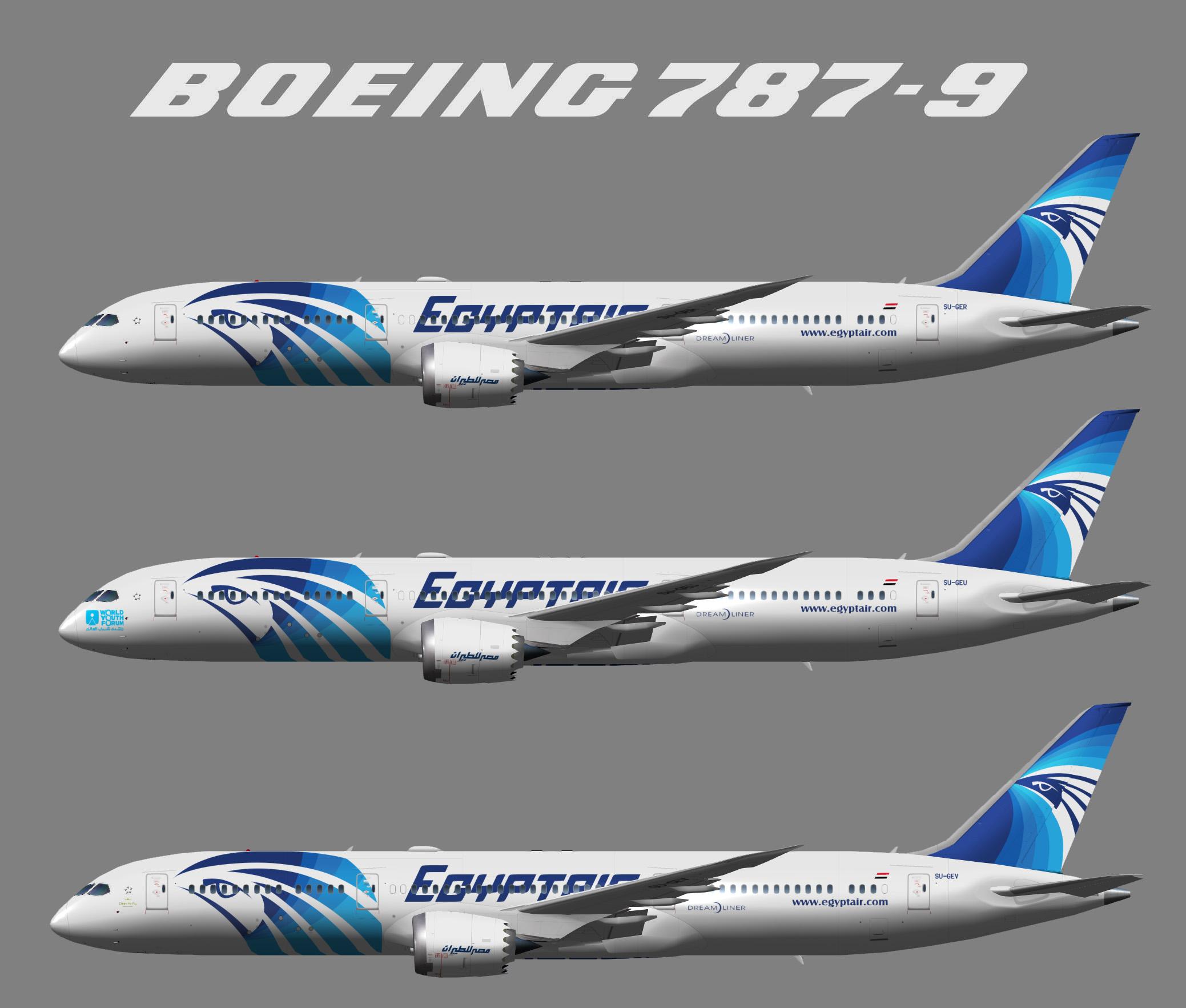 Egyptair Boeing 787-9 (UTT)