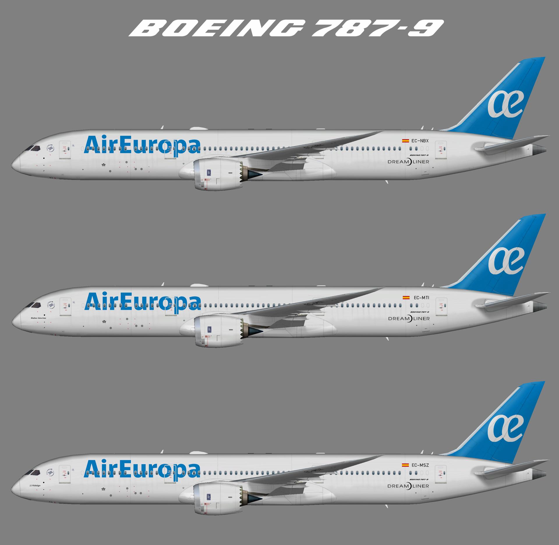 Air Europa Boeing 787-9 (FSP)