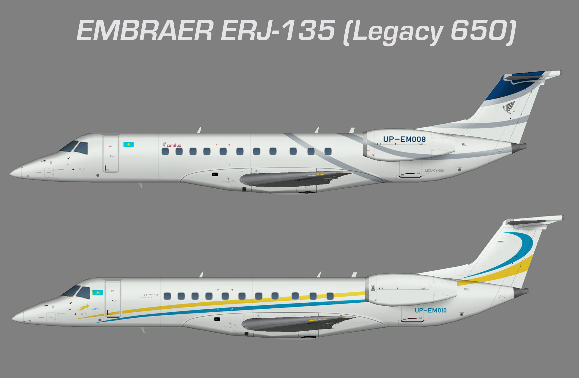 Comlux KZ Embraer ERJ-135 (Legacy 650)