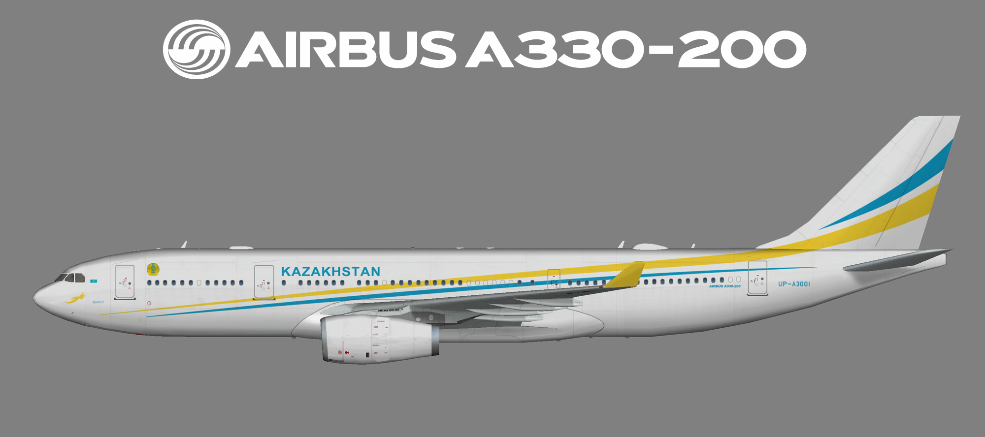 Kazakhstan Government Airbus A330-200 (TFS/FSP)