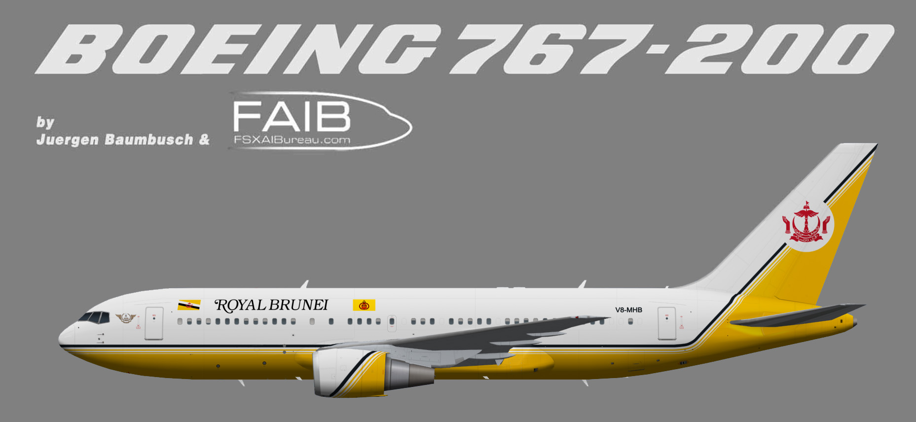Brunei Sultans Flight Boeing 767-200