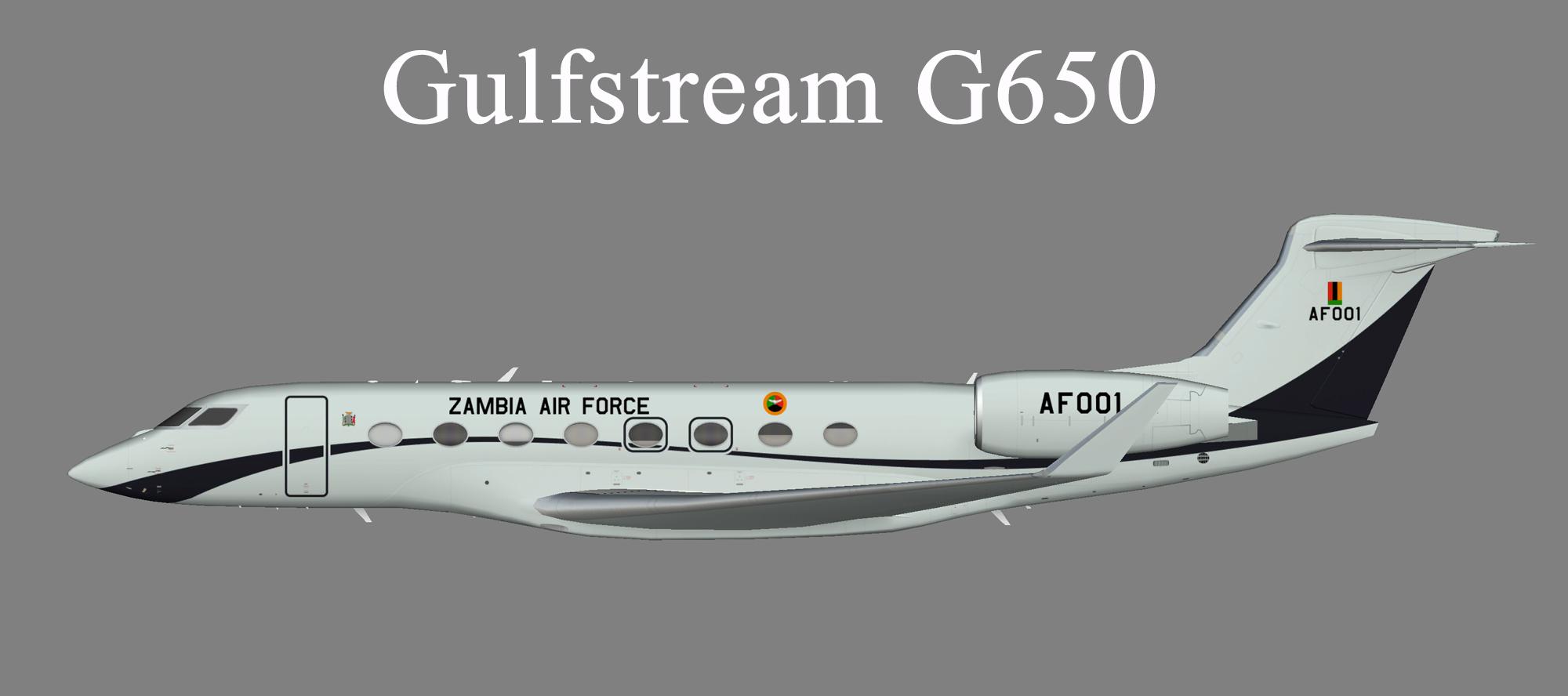 Zambia Air Force Gulfstream G650