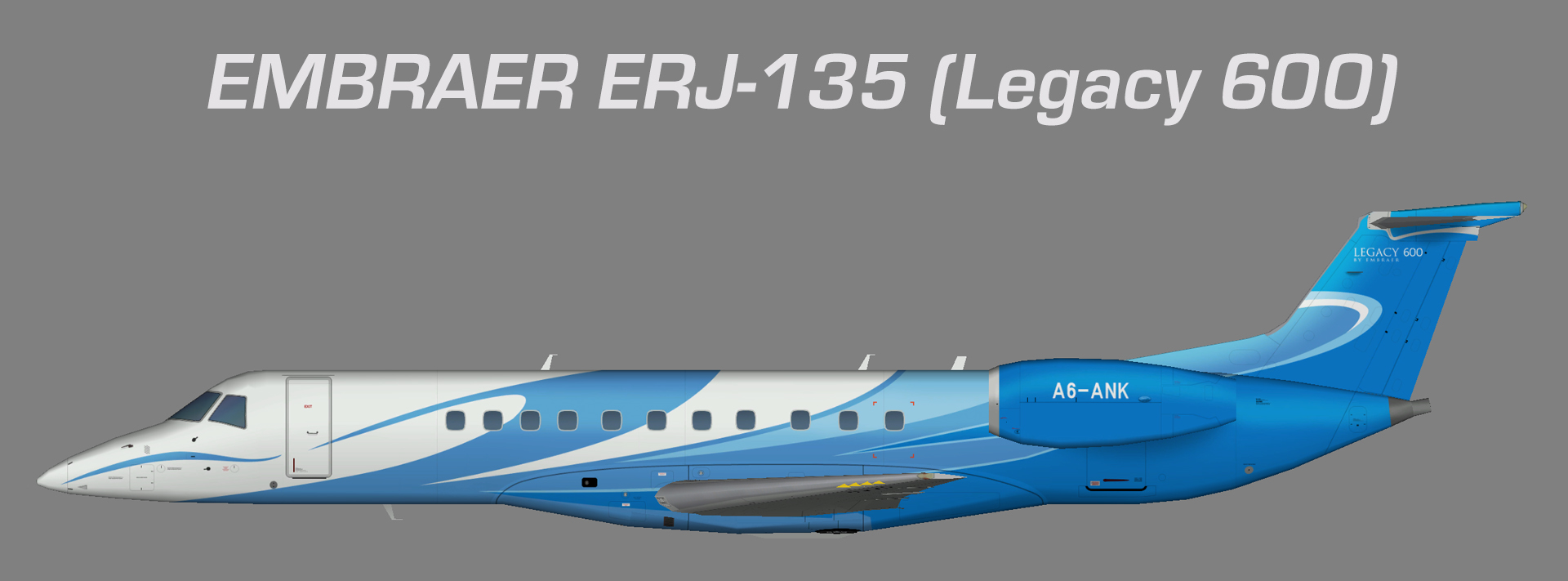 Gulf Wings ERJ-135 (Legacy 600)
