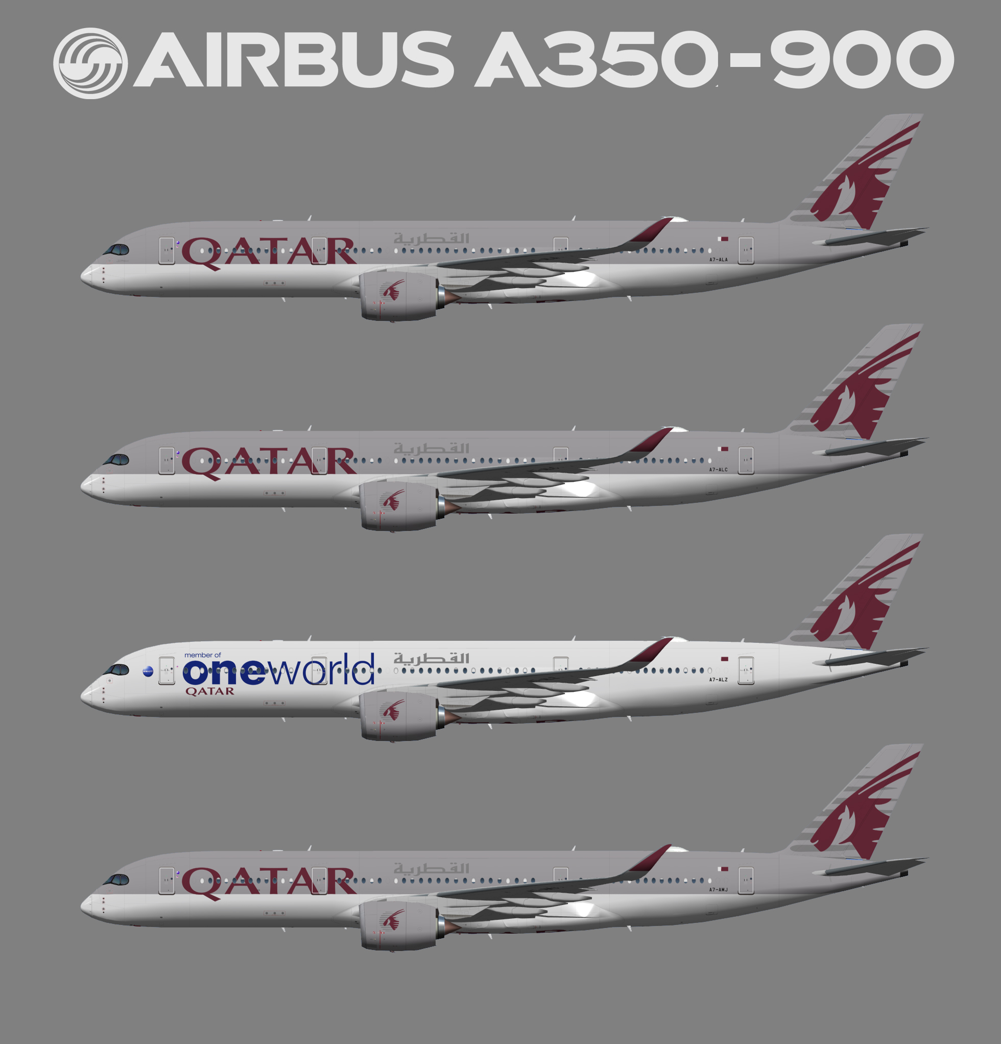UTT Qatar Airways Airbus A350-900