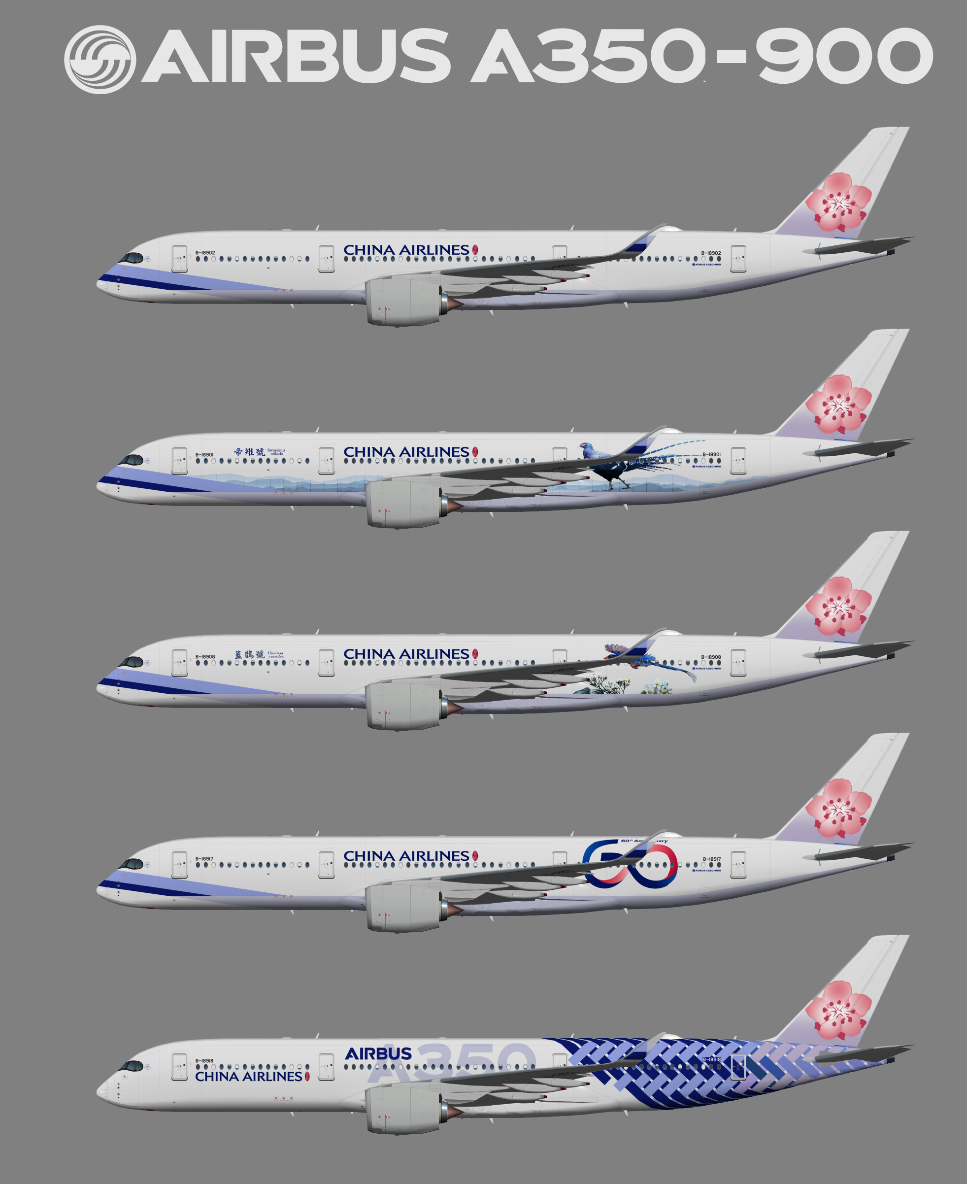 UTT China Airlines Airbus A350-900