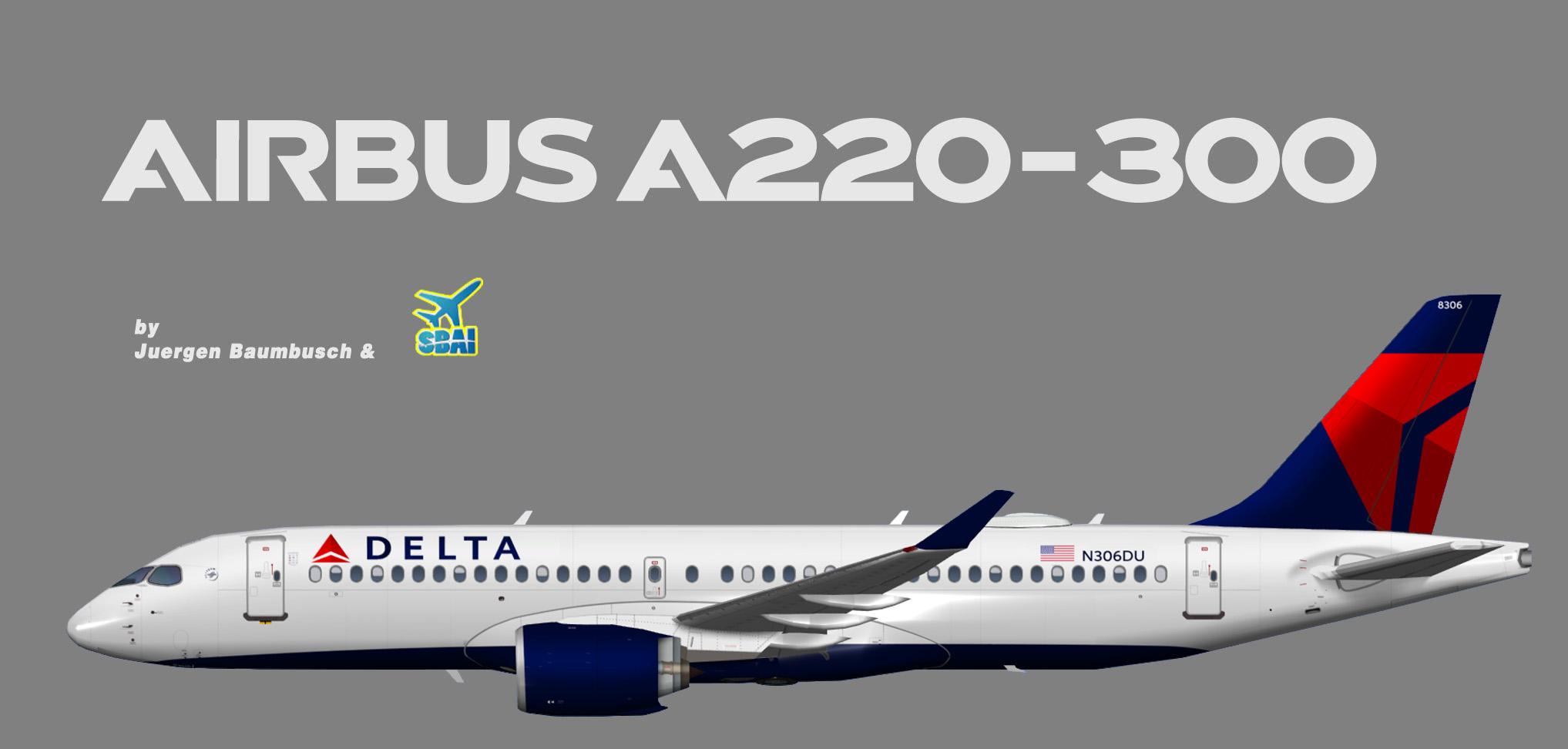 Delta Air Lines Airbus A220-300 (SBAI)