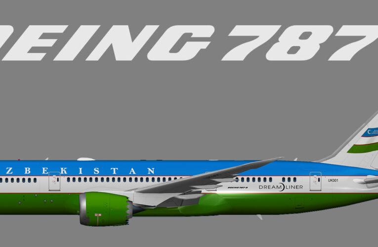 UTT Uzbekistan Government (opb Uzbekistan Airways) Boeing 787-8